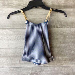 Jessica Simpson girl nautical gold trim bikini top
